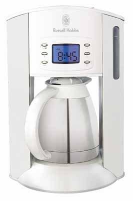 white style thermo kaffeemaschine weiss russell hobbs filter kaffeemaschinen. Black Bedroom Furniture Sets. Home Design Ideas